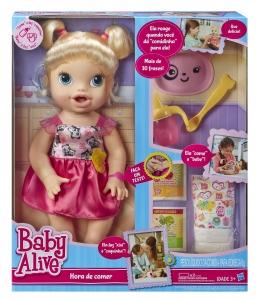 53e21767ad BONECA BABY ALIVE HORA DE COMER LOIRA A7022 9391 - Hasbro